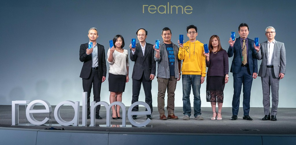 圖說:新興手機品牌realme今(22)日舉辦四鏡頭猛獸系列上市記者會