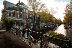 Intersection (Julien Widemann) Tags: amsterdam capital netherlands bridge bicycle water channel fall autumn leaf orange green yellow colors holidays visit nikon d7200 tamron 1750