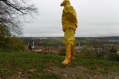 view from the hill (lulax40) Tags: fetish farmerrain fetisch fetishism gummistiefel gummimann gummi gummiregenkleidung rubber rainwear rubberboots raingear rubbergear pvc hood