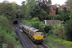 Guildford UK  |  2019 (keithwilde152) Tags: gbrf class66 66739 66731 rhtt st catherines guildford surrey hills uk 2019 landscape townscape countryside tracks tunnel railway railhead treatment train diesel locomotives outdoor autumn