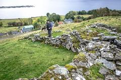 Broch 15 with Steve & Kiri (allybeag) Tags: broch lochbroom rhiroy ancientmonument scotland drystone walls views steve