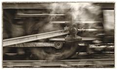 Applying the Power (photofitzp) Tags: crossbar steam motion slidebar connecting rod prairie tank gwr blur piston cylinder locomotive
