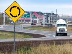 Cornwall Bypass images of locations along the route (Government of Prince Edward Island) Tags: cornwall bypass transportation transcanadahighway paving trucks semi trailer roundabout signage traffic