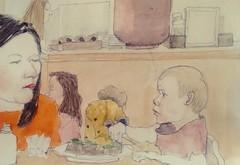 Brick House Bakery 22-10-19 (Utopist) Tags: watercolour watercolor brick house bakery cafe goose green