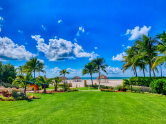If I could wake up to this view everyday... (Bombatron) Tags: earth elements sun sky clouds beach green grass palm trees idyllic paradise marco island florida usa explore flickr iphone xr