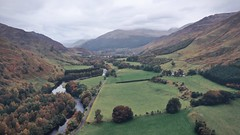 Above Glen Lyon (ShinyPhotoScotland) Tags: art aspiration beyond camera change colour composition contentment contrasts curves digikam dji drone dulllight emotion equipment glenlyon highviewpoint innocence isolation landscape leadinglines light lines loosecomposition mavic2pro meandering nearfar peace perthshire photography photomatixphotoipad places quiet rawconversion scotland shapeandform skyearth snapseed solitary time timeflows toned tranquil vibrant vintage vista
