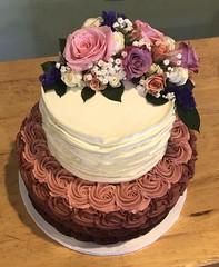 IMG_6252 (backhomebakerytx) Tags: backhomebakery back home bakery two tier ombre rosettes pretty birthday cake ruffles texture