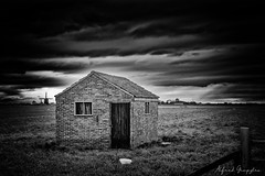 The Bowl (Alfred Grupstra) Tags: blackandwhite old abandoned ruralscene oldfashioned obsolete nopeople outdoors farm weathered nature woodmaterial rustic builtstructure cloudsky barn rundown sky landscape nonurbanscene 799 bowl