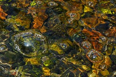 Creek Refections (Ken Mattison) Tags: water stream creek bubles reflections color colours closeup macro abstract nature outdoor lightandshadows patterns textures pov panasoniclumix fz1000