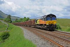 66848 - Ais Gill 18/06/12 (James Welham) Tags: 66848 colas rail ais gill settle carlisle 6j37 chirk kronospan ksa
