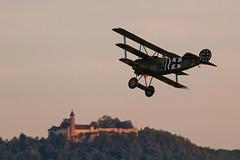 Return to castle Teck (Michal Jeska) Tags: mikaelcarlson fokker dr1 triplane greatwar historic airplane plane oldtimer hahnweide kirchheim teck canoneos7d canon7d canonef400mmf56lusm