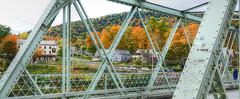 the Iron Bridge (albyn.davis) Tags: massachusetts colors fall foliage bridge architecture engineering travel usa village town river trees geometry autumn seasons