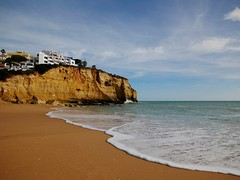 Carvoeiro (jantoniojess) Tags: portugal carvoeiro algarve landscape paisaje playa beach arena sand mar sea panasoniclumixg80 sky cielo praia