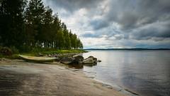 Finnland_2019 (32) (uwesacher) Tags: pielinen lake see campingplatz lieksa cafe rezeption taiga timitra timitranniemi campside 2019 lomakylä hütte boot wolken ruderboot