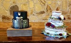 IMG_6271 (backhomebakerytx) Tags: backhomebakery back home bakery wedding cake cakes bride brides groom grooms batman two tier naked three gotham city hero dc superhero