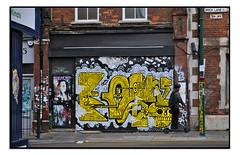 STREET ART SHUTTERS by DEINO. (StockCarPete) Tags: streetart londonstreetart shutters shutterart bricklane london uk shoreditch shoreditchart skatebroader