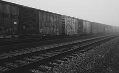 Try Angles (Orange Turnip) Tags: angles foggy geometric radford tracks trains va
