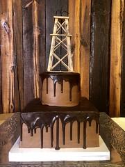 IMG_6269 (backhomebakerytx) Tags: backhomebakery back home bakery grooms groom cake wedding oil fudge drip rig two tier