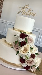 IMG_6267 (backhomebakerytx) Tags: backhomebakery back home bakery three tier smooth gold border pretty wedding cake bride brides