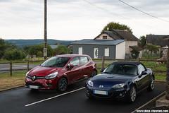 WE Entre Limousin et Auvergne 2017 - Renault Clio IV tCe90 Intens - 2017 & Mazda MX-5 NC (Deux-Chevrons.com) Tags: renaultclioivtce90intens renault clio iv tce90 intens renaultclio renaultclioiv clio4 renaultclio4 mazdamx5 mx5 mazdamx5nc mx5nc mazda nc car coche voiture auto automobile automotive france