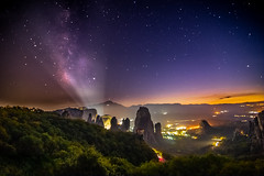 Milky Way sets over Meteora (Vagelis Pikoulas) Tags: meteora kalabaka kalampaka greece europe night nightscape long exposure milky way milkyway galaxy stars view landscape nature space lightroom canon 6d tokina 1628mm autumn october 2019