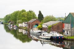 Canal Reflections. (I'mDKB) Tags: imdkb castleford nikond600 70300mm 70300mmf4556g may 2019 yorkshire canal barge reflections caldernavigation lightroom5 lr5