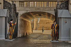 Swiss Guards at the Vatican (Fotofricassee) Tags: vatican swiss guards uniform colorful architecture soldiers