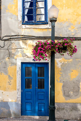 The Blue Door  _8623 (hkoons) Tags: iberianpeninsula aveiro city europe portugal window amusement bloom blooming blossom boats coast color door entertainment flower flowers grounds lamp leaf leaves naturalist outdoors peddles river salt sea stems tourists wildflower