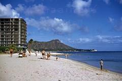 Reef Hotel Construction 1954 (Kamaaina56) Tags: 1950s waikiki hawaii reef hotel kelley beach grays slide