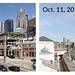 WSDOT Photo: Before and after: Alaskan Way at Marion Street