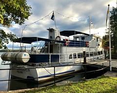 "The ""Sluice Bride"" (halleluja2014) Tags: lake harbor boat båt falun sjö färja hamn kvarnberget runn slussbruden sluicebride autumn restaurant october höst lateafternoon"