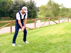 6951 - Putt (Diego Rosato) Tags: golf green verde parco medici stagno pond sport luigi fuji x30 rawtherapee putt