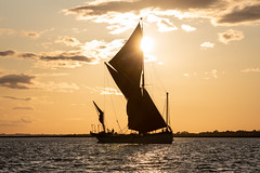 Blue Mermaid (Dannis van der Heiden) Tags: ship water river sundown sky sail coast sun sunshine maldon uk england blackwater people landscape sailboat bluemermaid sailship silhouette person sailing nikond750 d750 tamron70210mmf4