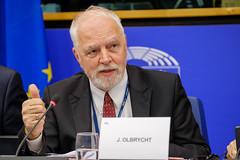 Jan Olbrycht podczas spotkania Grupy EPL na sesji plenarnej w Strasbourgu. 22/10/2019. Fot. Martin Lahousse