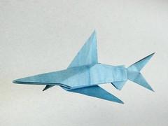 Blue shark - Fumiaki Kawahata (Rui.Roda) Tags: origami papiroflexia papierfalten tubirón tubarão requin azul bleu blue shark fumiaki kawahata