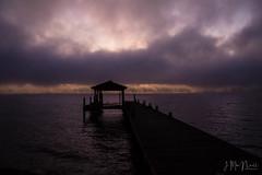 Seneca Lake Dock (Jennifer MacNeill) Tags: boat dock sunrise sunset clouds purple water lake seneca ny lakes finger jennifermacneill