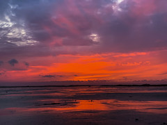 Terschelling (Anchye) Tags: terschelling waddeneiland strand water sand beach lovethesea loveholland waddenzee noordzee sunset zonsondergang rood underaredsky redsky
