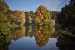50 Shades of autumn (Nige H (Thanks for 25m views)) Tags: nature landscape autumn autumncolours trees reflection lake wiltshire england stourhead nationaltrust