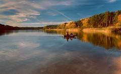 In October at the lake (bożenabożena) Tags: landscape october lake autumn autumntrees clouds boat sunset canoneos80d krajobraz jesień jezioro jesiennedrzewa niebo chmury październik łodka zachódsłońca łódka zachódłońca sky reflection odbixie