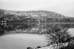Le lac de Gerardmer (DavidB1977) Tags: france gerardmer monochrome bw nb canon argentique film eos100