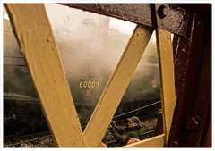 Cameraman on Camera! (peterdouglas1) Tags: 60009unionofsouthafrica footbridges eastlancsrailway steamgalas a4 lner