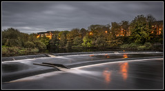 295/365 Dusk falling over the dam on the River Ayr at Ayr (B Ryder) Tags: dam river ayr south ayrshire scotland uk landscape night clouds sky long exposure nikon d500 18200mm lens shot