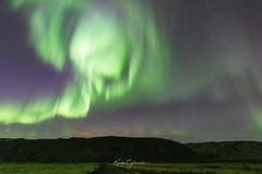 Aurora Borealis (Kjartan Guðmundur) Tags: nightphotography nature night iceland nightscape ngc nocturne ísland northernlights auroraborealis nordlys norðurljós sky mountain stars lava moss arctic canoneos5dmarkiv kjartanguðmundur sigma14mmf18art