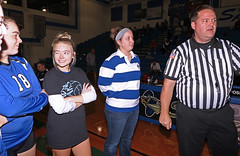 IMG_0398 (SJH Foto) Tags: girls volleyball high school elizabethtown etown manheim township canon 1018 f4556 stm superwide lens pregame ceremonies ref referee captains coin toss sassy wink