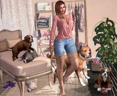 Time to let the Dogs out (nannja.panana) Tags: addams birth catwa dubaievent dustbunny letredoux ladyx mancave mila nannjapanana reign rezzroom serenitystyle soy tmp