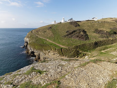 Anvil Point Lighthouse (martin_swatton) Tags: anvilpoint lighthouse durlston dorset england uk sea sky autumn cliffs rocks olympus omd em1 mkii mzuiko 714 28 pro wideangle