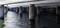 Stockholm, September 19, 2019 (Ulf Bodin) Tags: pelare pillars sverige autumn bro bridge stockholm water tegelbacken canonrf85mmf12lusm outdoor panorama canoneosr sweden centralbron stockholmslän
