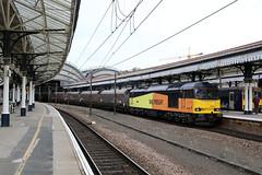 60002 6H70 York station 22.10.2019 (Dan-Piercy) Tags: gbrf excolas class60 tug 60002 yorkstation plt3 6h70 tynedock drax biomass ecml