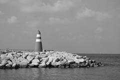 IMG_28012 (danielbar396) Tags: lighthouse black white sea port people ship telaviv