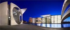 Berlin City Center #1 (marcuskuenzel) Tags: berlin europe architecture architektur foto panorama blaue stunde blue hour sky